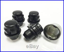 Genuine Land Rover Black Locking Wheel Nuts & 16 Nuts 14x1.50 Discovery 3