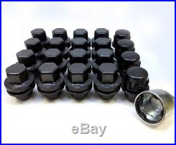 Genuine Land Rover Black Locking Wheel Nuts & 16 Nuts 14x1.50 Discovery 4