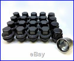 Genuine Land Rover Black Locking Wheel Nuts & 16 Nuts 14x1.50 Vogue L405