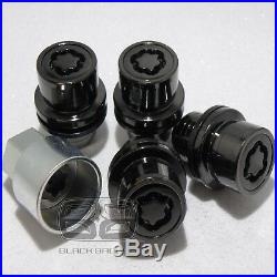 Genuine Land Rover Discovery 3 4 Black Alloy Wheel Lock Nuts Lockers Set Locking