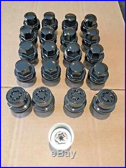 Genuine Land Rover Discovery 3 4 Range Rover Black Alloy Wheel Nuts Locking Kit