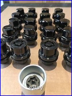 Genuine Land Rover Discovery 3 4 Range Sport Black Alloy Wheel Nuts Locking New