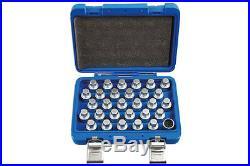 Genuine Laser Tools 6767 Locking Wheel Nut Key Set Mercedes Benz 30pc