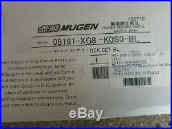 Genuine Mugen Honda Civic Type R wheel nuts. Black with locking nuts JDM