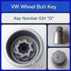 Genuine VW Locking Wheel Bolt / Nut Key 524 D