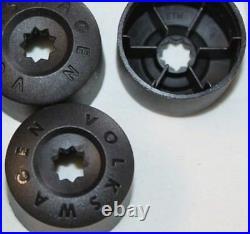 Genuine Vw Golf Passat Jetta Wheel Nut Bolt Plastic Covers Caps Locking X4