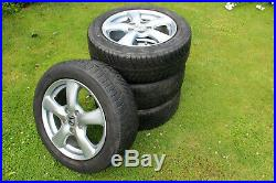 Honda Civic Set of 4 Alloy Wheels with Good Tyres locking wheel nuts 205/55/R16
