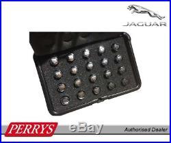 Jaguar Chrome Set Locking Wheel Nuts with logo & carry case C2D20072 GENUINE