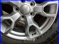 Jeep Wrangler 2018 JK 18 Wheels & Tyres + wheel nuts & locking nuts & Key