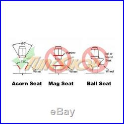 KICS R26 NEO LOCK 12x1.25 1.25 FLOATING SEAT ACORN WHEELS RIMS LUG NUTS OPEN N