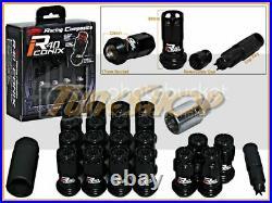 KICS R40 ICONIX BLACK LOCK LUG NUTS 12x1.5 1.5 FLOATING ACORN WHEELS RIM CLOSE H