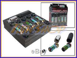 KICS R40 REVO NEO-CR LOCK LUG NUTS 12x1.5 1.5 FLOATING ACORN WHEELS RIMS CLOSE L