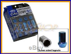 Kics Caliber 24 Ti-blue Lock Lug Nuts 12x1.25 1.25 Acorn Wheels Rims Close N