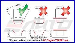 Kics R40 ICONIX Classical 17hex 12x1.25 Rim Wheel Lug Nut 16+4 Cap & Lock Key a