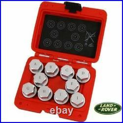 Land Rover 10pc Locking Wheel Nut Key Set Master Set Tamper Proof 4768