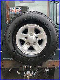 Land Rover Defender 110 Boost Alloy Wheels & Tyres Wheel Nuts Locking Genuine