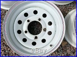 Land Rover Defender 5 X Modular Wheels White Size 16 X 7 Incl Locking Wheel Nuts