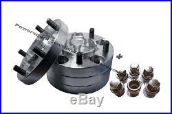 Land Rover Defender 90 110 30 mm Aluminium Wheel Spacer Set of locking nuts