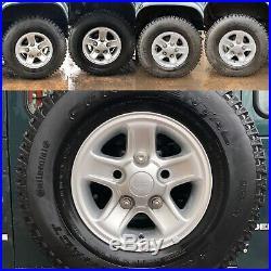 Land Rover Defender 90 Boost Alloy Wheels & Tyres Wheel Nuts Locking Genuine