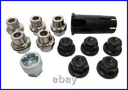 Land Rover Defender Discovery 1 Rr Classic Locking Wheel Nuts & Key Kit Black