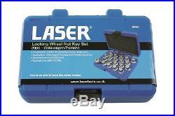Laser 6662 Locking Wheel Nut Key Set 20pc Fits Volkswagen/Porsche