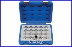 Laser 6861 Locking Wheel Nut Key Set Fits Vauxhall/Opel 20pc