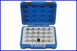 Laser 6861 Locking Wheel Nut Key Set Vauxhall/Opel 20pc