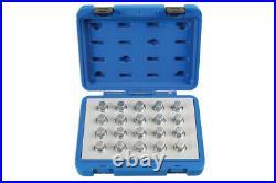 Laser 6862 20 Piece Locking Wheel Nut Key Set Fits Vauxhall/Opel