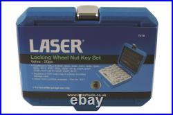 Laser 7076 17 Piece Locking Wheel Nut Key Set Fits Volvo