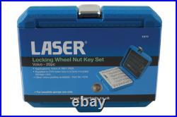 Laser 7077 20 Piece Locking Wheel Nut Key Set Fits Volvo