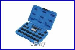 Laser 7108 22 Piece Locking Wheel Nut Key Set Fits VAG