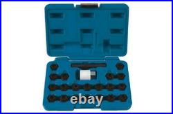 Laser Tools 6232 Locking Wheel Nut Key Set 22pc for VAG
