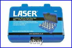 Laser Tools 6662 Locking Wheel Nut Key Removal Master Set 20pc for VAG, Porsche