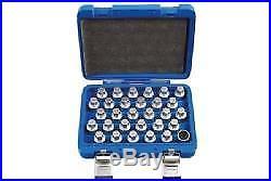 Laser Tools Locking Wheel Nut Key Set Mercedes Benz 30 Pieces 6767L