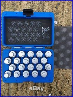 Laser Tools Professional Locking Wheel Nut Key Set 20pc 6427 Volkswagen