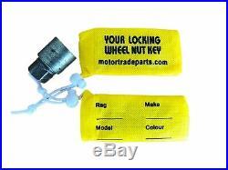 Locking Wheel Nut Bag Storage Pouch x 20