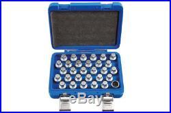 Locking Wheel Nut Key Set Mercedes Benz 30pc Part No. 6767 By Laser New