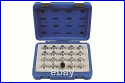 Locking Wheel Nut Key Set Vauxhall/Opel 20Pc Laser 6861