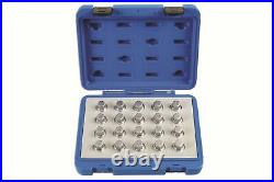 Locking Wheel Nut Key Set Vauxhall/Opel 20Pc Laser 6862