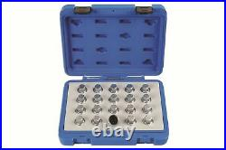 Locking Wheel Nut Key Set Vauxhall/Opel 20Pc Laser 6863