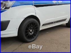 Locks Nuts inc 18 M Sport Black Alloy Wheels XL Tyres Ford Transit Custom Van