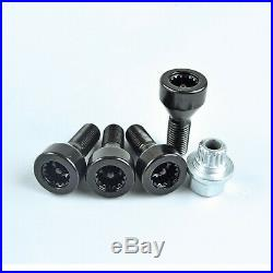 M121.5 for BMW 3 Series E90 Locking Alloy Wheel Nuts Bolts Black 36136786419