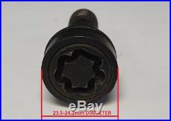 MERCEDES GLA GLC GLE GLS ML GL 17mm WHEEL NUT BOLT COVERS LOCKING CAPS BLACK x20