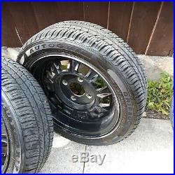 MGB GT steel wheels & Auto Grip tyres set of 4 (nuts/locking nut) 165-60 R14