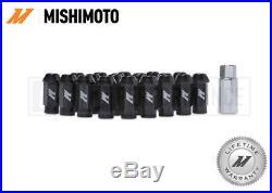 MISHIMOTO BLACK ALUMINIUM LOCKING WHEEL LUG NUTS SET M12x1.25 ANODISED