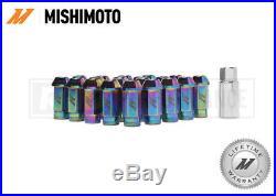 MISHIMOTO NEO CHROME ALUMINIUM LOCKING WHEEL LUG NUTS SET M12x1.5