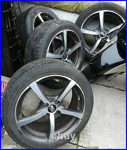 MSW by Oz 17 inch 7J alloy wheels with Bridgestone low profiles. 12 locking nuts