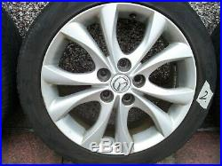 Mazda 3 alloy wheels 17 set of 4, With tyres, Chrome and Locking Nuts Inc