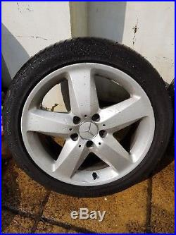Mercedes 17 Alloy Wheels (x4) OEM SLK 5x112 with tyres + nuts + locking bolts