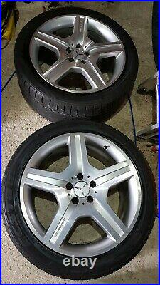 Mercedes AMG 19 Alloy Wheels For S-Class (W221), wheel bolts, and locking nuts